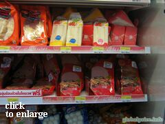 Grocery prices on Phuket (Thailand), sandwich