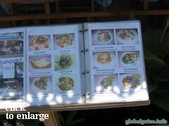Prices of side dishes (Cafe on Phuket)