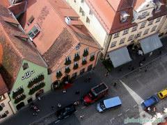 Вид на Роттенбург с высоты местной колокольни, ... с высокой колокольни