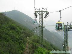 Развлечения в Гонконге в Оушен парке, Канатная дорога на другую сторону Оушен парка