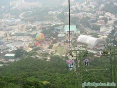 Развлечения в Гонконге в Оушен парке, Канатная дорога и воздушный шар