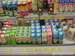 The cost of milk in Hong Kong