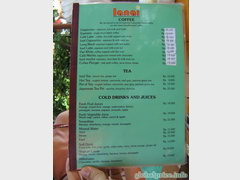 Prices in Indonesia on Bali island, Prices at cafe