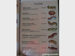 Bali cafes and restaurants prices, rolls