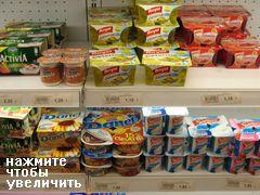 Цены на молочные продукты в Испании