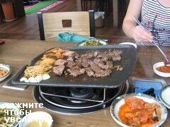Busan, South Korea food, Meat fry themselves