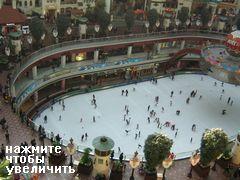 Развлечения и аттракционы в Сеуле в Южной Корее, каток на 1 этаже Lotte World