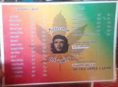 Цены в Амстердаме в кофешопе, Прайс-лист Кофешоп Het Gelderse
