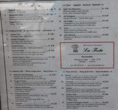 Цены на еду в Амстердаме в Нидерландах, Цены в Итальянском ресторане