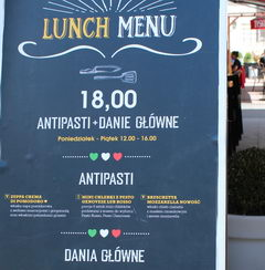 Dining options and the cost of food at in Warsaw in Poland, Complex lunch