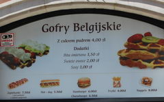 Fast food in Warsaw, Belgian waffles
