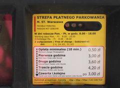 На автомобиле в Польше, стоимость парковок в центре Варшавы
