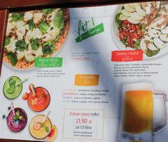Цены в Варшаве в ресторанах, Различные салаты