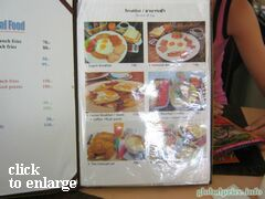 Food prices on Phuket (Thailand), Prices for breakfast