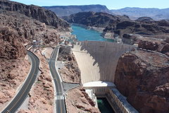 View of the dam from the bridge, Hoover Dam