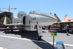 Midway warship in San Diego, Fighter Show on the upper deck