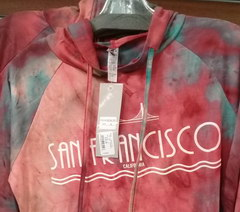 Prices for souvenirs in the USA, Sweatshirt San Francisco