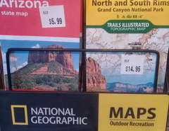 Prices for souvenirs in the USA, Paper maps of National Park Territories