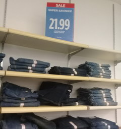 US prices for clothes, jeans