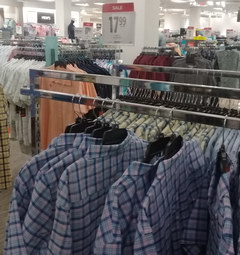 US prices for clothes, Plaid shirts