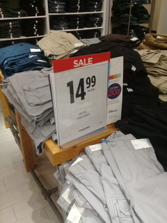 US prices for clothes, Pants