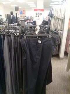 US prices for clothes, office pants
