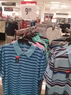 US prices for clothes, Shirts on sale