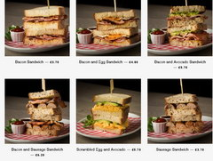 American Burger in London, Sandwiches