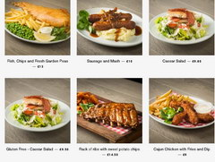 American Burger in London, Main Dishes
