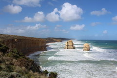 The Great Ocean Road in Australia, The main attraction of the road is the huge stone monoliths