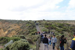 Port Campbell Park in Australia, Pathways, stairs and viewing platforms arranged