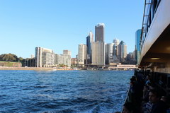 Sights of Sydney, Sailing by ferry to the city
