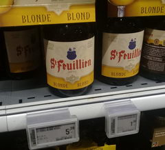 Beer prices in Belgium at the supermarket, St Feulillen