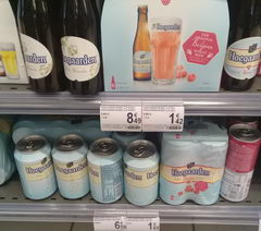 Beer prices in Belgium in the supermarket, Various hoegarden beer