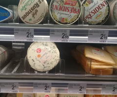 Food prices in Belgium in Brussels, soft cheese with mold