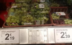 The cost of vegetables and fruits in Belgium, Grapes