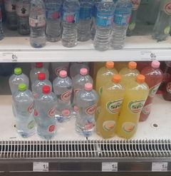 Food prices in a food supermarket in Belgium, Water