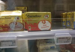 Prices in Belgium for dairy products, butter