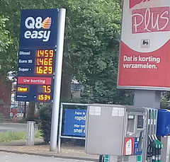 Transport prices in Belgium and Brussels, Petrol prices