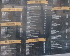 Prices in restaurants in Cyprus, Drinks munu