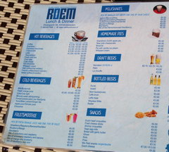 Food prices in Amsterdam in the Netherlands, Prices in cafes