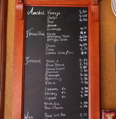 Food prices in Amsterdam in the Netherlands, Prices in a beer bar in Amsterdam