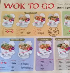Dining and Drinking in Amsterdam in the Netherlands, Noodle Wok to go