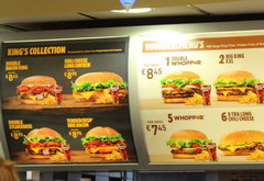 Food prices in Amsterdam in the Netherlands, Burger King