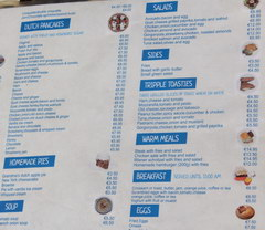 Amsterdam food and drink prices, Meals in cafes