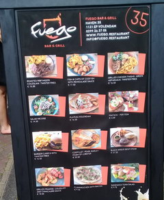 Amsterdam food and drink prices, Grill bar for rurists