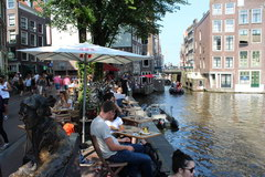 Amsterdam food and drink prices, Restaurant on the canal bank