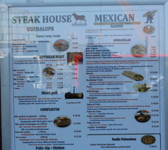 Amsterdam food and drink prices, Prices at a steakhouse