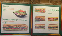 Fast food in Warsaw, Prices as Subway cafe