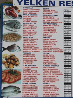 Prices in Turkey in Antalya for food, Шnexpensive cafe
